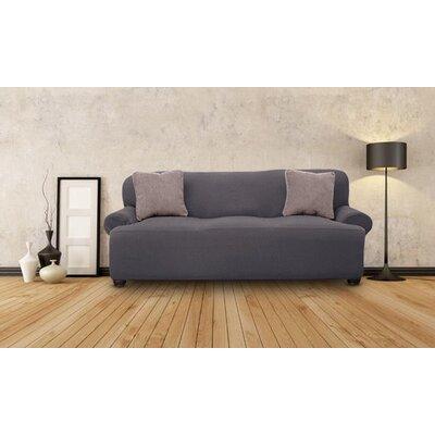 T-cushion Sofa Slipcover Upholstery: Gray