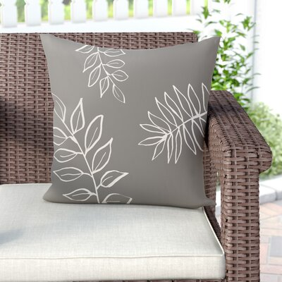 Bookman Throw Pillow Size: 16 H x 16 W, Color: Gray / Off White