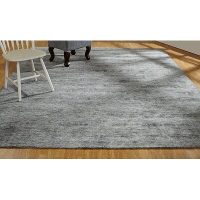 Shonta Hand-Knotted Gray Area Rug Rug Size: Rectangle 36 x 56