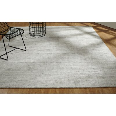 Doddridge Hand-Knotted Gray Area Rug Rug Size: Rectangle 96 x 13