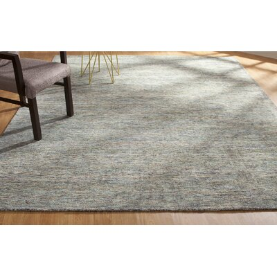 Dodds Hand-Knotted Gray Area Rug Rug Size: Rectangle 36 x 56