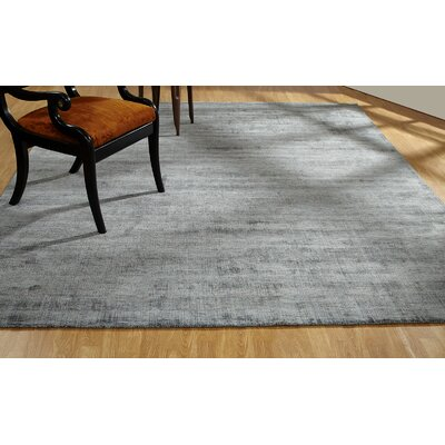 Shoshana Hand-Knotted Gray Area Rug Rug Size: Rectangle 76 x 96
