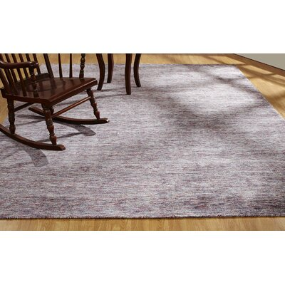 Dodgen Hand-Knotted Pink Area Rug Rug Size: Rectangle 56 x 86