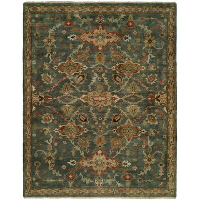 Edna Hand Knotted Wool Blue Area Rug Rug Size: Rectangle 8 x 10