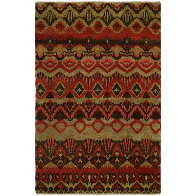 Godfrey Hand Knotted Wool Red Area Rug Rug Size: Rectangle 6 x 9