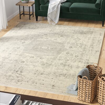 Riggs Ivory/Silver Area Rug Rug Size: 86 x 116