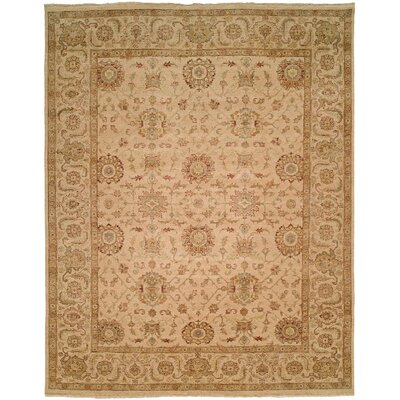 Mcgee Hand Knotted Wool Ivory Area Rug Rug Size: Rectangle 9 x 12