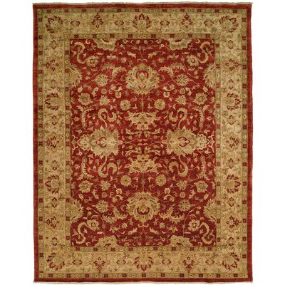 Mcdougall Hand Knotted Wool Rust/Ivory Area Rug Rug Size: Rectangle 12 x 18