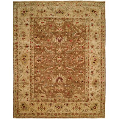 Devansh Hand Knotted Wool Brown/Beige Area Rug Rug Size: Rectangle 10 x 14
