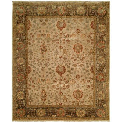 Henriques Hand Knotted Wool Beige/Gray Area Rug Rug Size: Rectangle 9 x 12