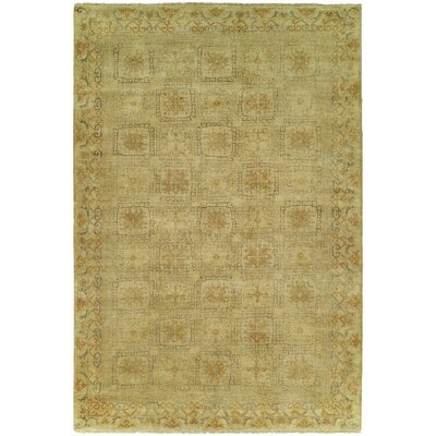 Griswald Hand Knotted Wool Ivory Area Rug Rug Size: Rectangle 4 x 6