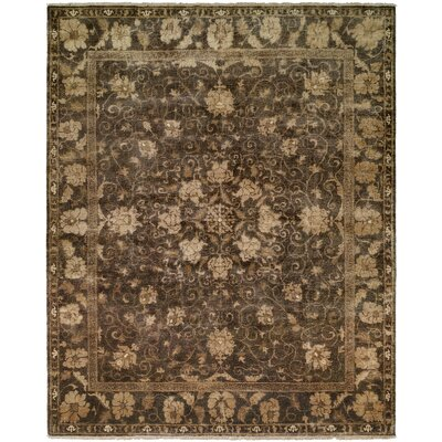 Heppner Hand Knotted Wool Gray Area Rug Rug Size: Rectangle 9 x 12