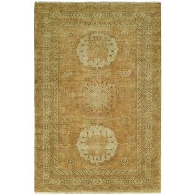 Griswalda Hand Knotted Wool Rust Area Rug Rug Size: Rectangle 4 x 6