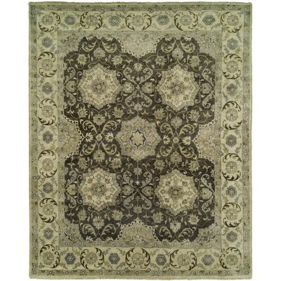 McLeansboro Hand Knotted Wool Gray/Ivory Area Rug Rug Size: Rectangle 6 x 9