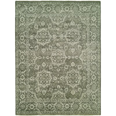 McLelland Hand Knotted Wool Gray Area Rug Rug Size: Rectangle 12 x 15