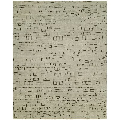 Shyla Hand-Knotted Wool Ivory Area Rug Rug Size: Rectangle 6 x 9