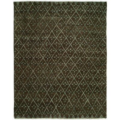 Venita Hand-Knotted Wool Brown Area Rug Rug Size: Rectangle 6' x 9'