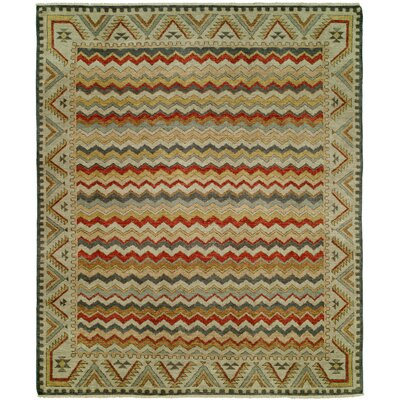 Dona Hand-Knotted Wool Ivory Area Rug Rug Size: Rectangle 6 x 9