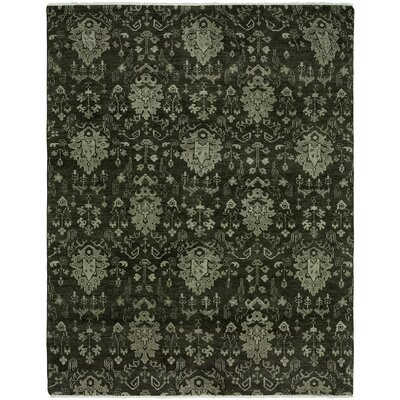Donahue Hand Knotted Wool Dark Gray Area Rug Rug Size: Rectangle 9 x 12