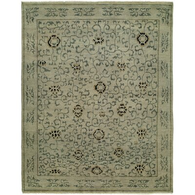 Evalyn Hand-Knotted Wool Beige Area Rug Rug Size: Rectangle 9 x 12