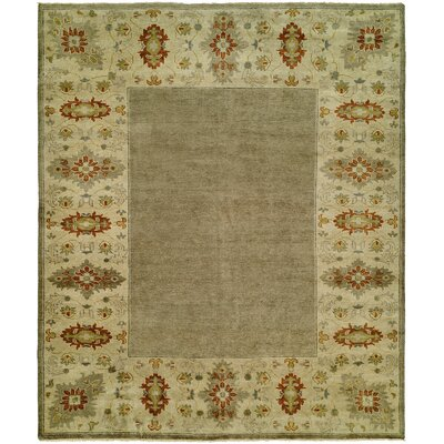 Dixon Hand Knotted Wool Gray/Sand Area Rug Rug Size: Rectangle 4 x 6