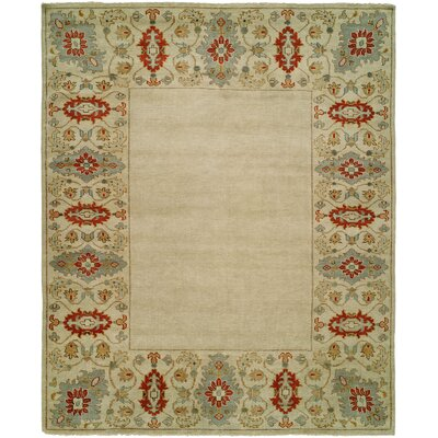 Dolton Hand Knotted Wool Ivory Area Rug Rug Size: Rectangle 4 x 6