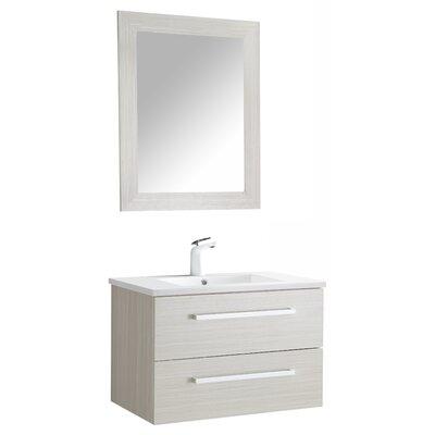 Cuisinox 30 Single Bathroom Vanity Set with Mirror Base Finish: White