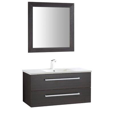 Cuisinox 39 Single Bathroom Vanity Set with Mirror Base Finish: Umber