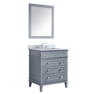 Yves 36 Single Bathroom Vanity Set with Mirror Base Finish: Gray