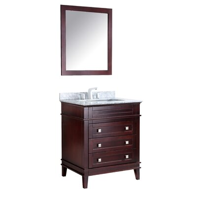 Yves 36 Single Bathroom Vanity Set with Mirror Base Finish: Chocolate