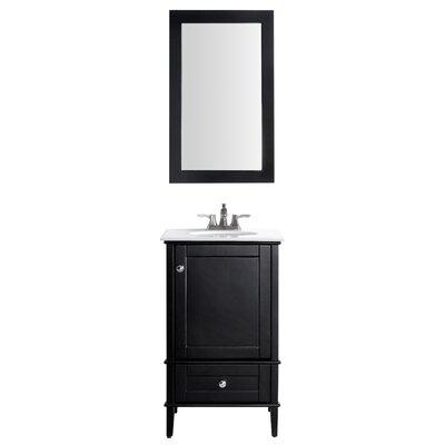 Peckham 21 Single Bathroom Vanity Set with Mirror Base Finish: Black