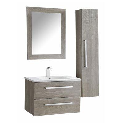 Cuisinox 30 Single Bathroom Vanity Set with Mirror Base Finish: Gray