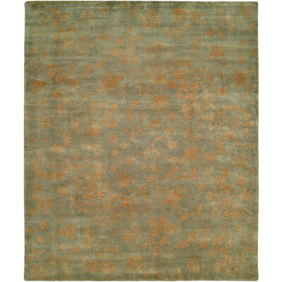 Goodson Hand Knotted Wool Light Blue/Gold Area Rug Rug Size: Rectangle 8' x 10'