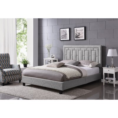 Lefferts Queen Upholstered Panel Bed Color: Dove Gray