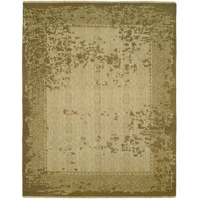 Griselde Wool Beige/Brown Area Rug Rug Size: Rectangle 4 x 6