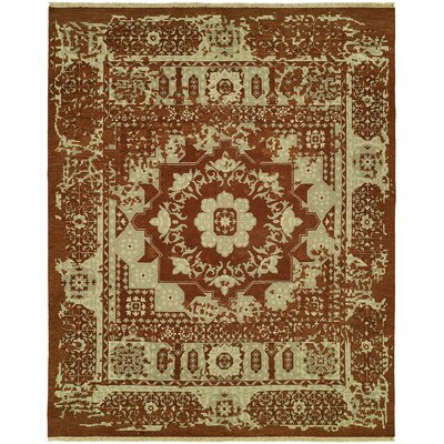 Griswalde Wool Rust Area Rug Rug Size: Rectangle 3 x 5