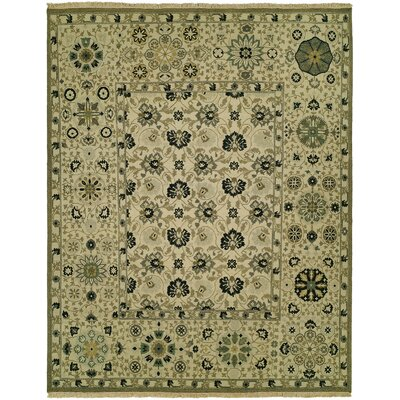 Angelina Wool Ivory Area Rug Rug Size: Rectangle 5 x 7