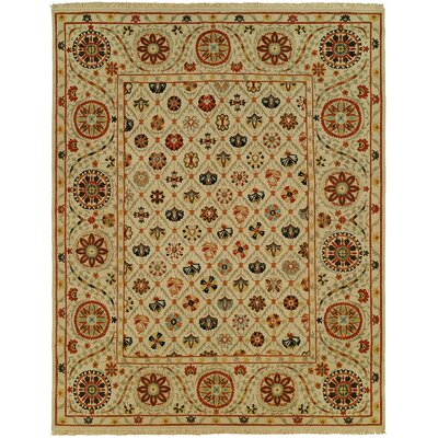 Hensen Wool Beige Area Rug Rug Size: Rectangle 4 x 6