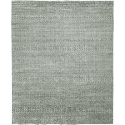 Heacock Hand-Knotted Wool Gray Area Rug Rug Size: Rectangle 6 x 9