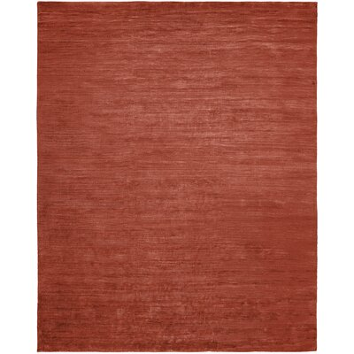 Simona Hand-Knotted Wool Red Area Rug Rug Size: Rectangle 12 x 15