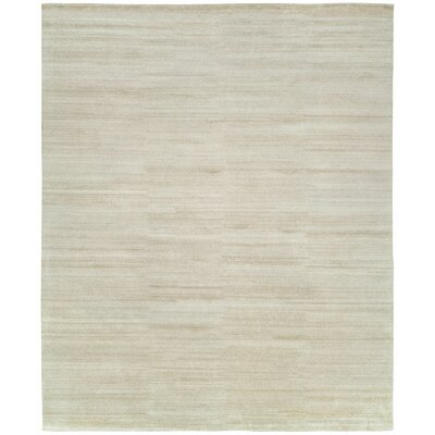 Declan Hand-Knotted Wool Ivory Area Rug Rug Size: Rectangle 6 x 9