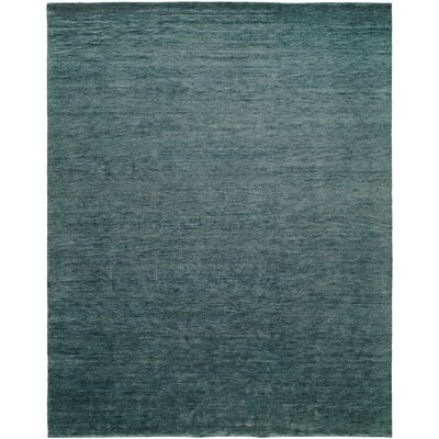 Decker Hand-Knotted Wool Blue Area Rug Rug Size: Rectangle 9 x 12