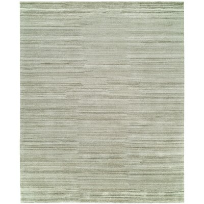 Delaine Hand-Knotted Wool Gray Area Rug Rug Size: Rectangle 9 x 12