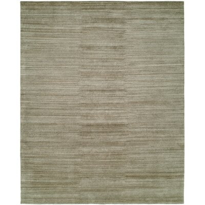 Sibyl Hand-Knotted Wool Gray Area Rug Rug Size: Rectangle 4 x 6