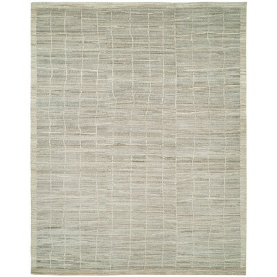 Sima Hand-Knotted Wool Beige Area Rug Rug Size: Rectangle 12 x 15