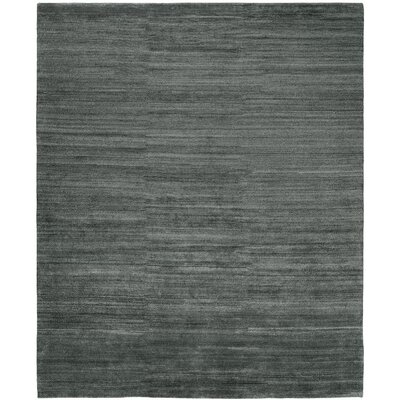 Signe Hand-Knotted Wool Gray Area Rug Rug Size: Rectangle 10 x 14