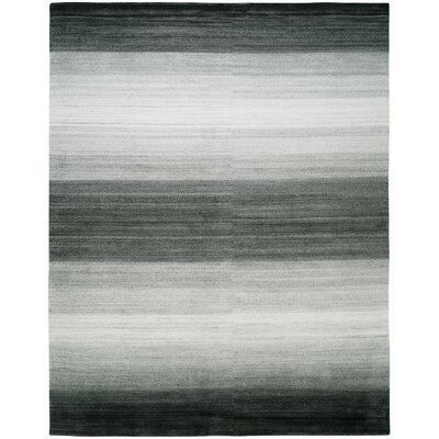 Hayter Hand-Knotted Wool Gray Area Rug Rug Size: Rectangle 3 x 5