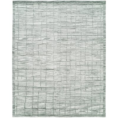 Shonda Hand-Knotted Wool Gray/Ivory Area Rug Rug Size: Rectangle 8 x 10