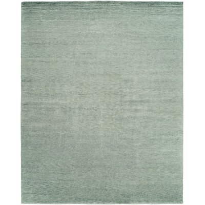 Debra Hand-Knotted Wool Gray Area Rug Rug Size: Rectangle 10 x 14