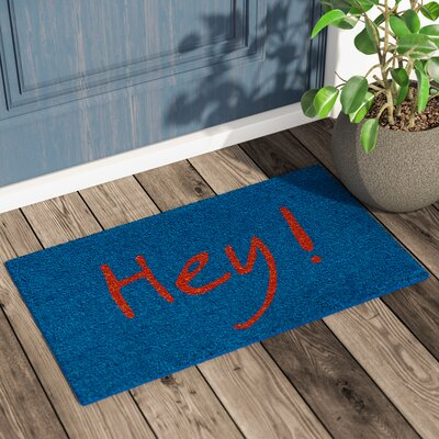 Langleyville Hey Doormat Color: Blue/Orange
